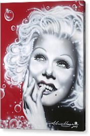 Jean Harlow Acrylic Print by Alicia Hayes