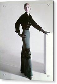 Jean Patchett Wears A Mainbocher Jacket Acrylic Print