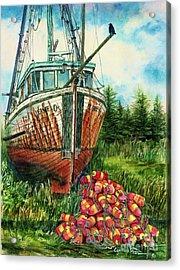 Jeanie O And The Crow Acrylic Print