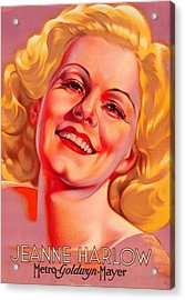 Acrylic Print featuring the photograph Jeanne Harlow by Allen Beilschmidt