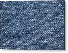 Jeans Texture Acrylic Print by Andrew Dernie