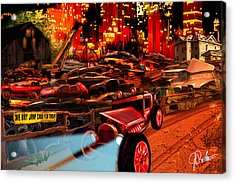 Jed Cooper Junk Yard Acrylic Print by Gerry Robins