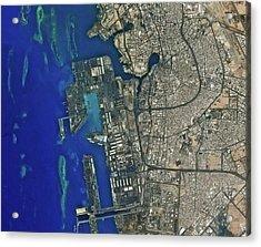Jeddah Seaport Acrylic Print by Kari/european Space Agency