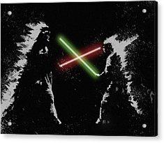 Jedi Duel Acrylic Print
