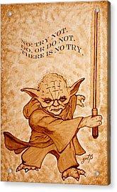 Jedi Yoda Wisdom Acrylic Print
