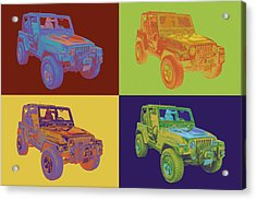 Jeep Wrangler Rubicon Pop Art Acrylic Print