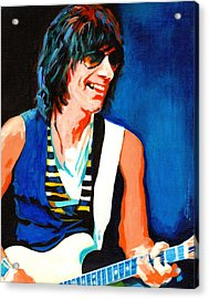 Jeff Beck. Brush With The Blues Acrylic Print