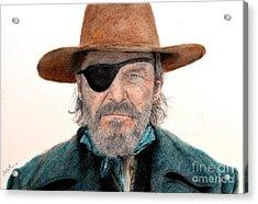 Jeff Bridges As U.s. Marshal Rooster Cogburn In True Grit  Acrylic Print by Jim Fitzpatrick
