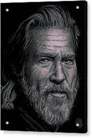 Jeff Bridges Acrylic Print by Ryan Jacobson