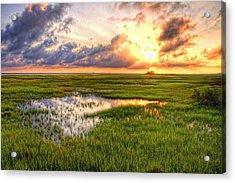 Jeffers Sunset Reflection Acrylic Print