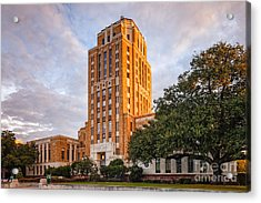 Jefferson County Courthouse At Sunrise - Beaumont East Texas Acrylic Print
