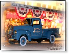 Jefferson General Store 51 Chevy Pickup Acrylic Print by Kathy  White