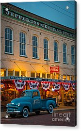 Jefferson General Store Acrylic Print by Inge Johnsson