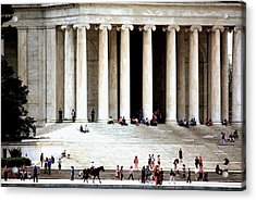 Jefferson Memorial--a Day In The Life Acrylic Print