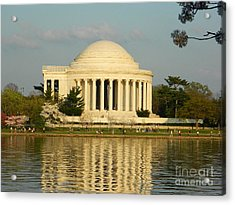 Acrylic Print featuring the photograph Jefferson Memorial At Sunset by Emmy Marie Vickers