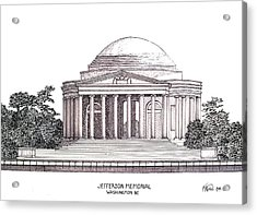 Jefferson Memorial Acrylic Print by Frederic Kohli
