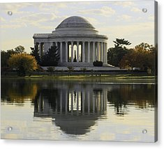 Jefferson Memorial In Autumn Acrylic Print