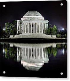 Jefferson Memorial - Night Reflection Acrylic Print