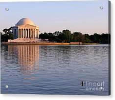 Jefferson Memorial Acrylic Print by Olivier Le Queinec