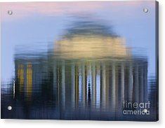 Jefferson Memorial Reflection Acrylic Print by Clarence Holmes