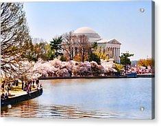 Jefferson Memorial Washington Dc Acrylic Print by Vizual Studio