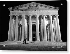 Jefferson Monument At Night Acrylic Print by Lane Erickson
