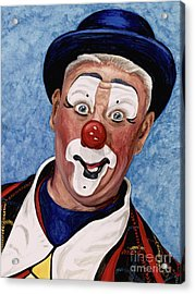 Watercolor Clown #11 Jeffrey Potts  Acrylic Print