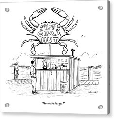 Jeff's Crab Hut Acrylic Print by Alex Gregory