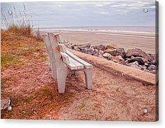 Jekyll Island Seats Available  Acrylic Print by Betsy Knapp