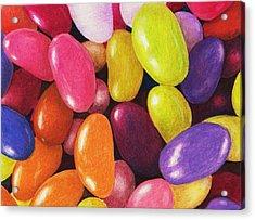 Jelly Beans Acrylic Print by Anastasiya Malakhova