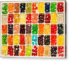 Jelly Beans Acrylic Print by Anne Kitzman