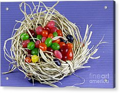 Jelly Beans Acrylic Print by Denise Pohl