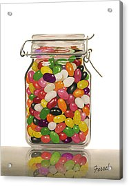 Acrylic Print featuring the painting Jelly Beans by Ferrel Cordle