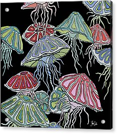 Jelly Fish II Acrylic Print by Shanni Welsh