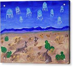 Jellyfish Migration Across Arizona Acrylic Print