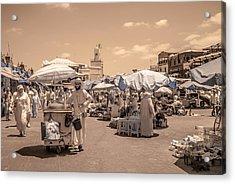 Jemaa El Fna Market In Marrakech Acrylic Print