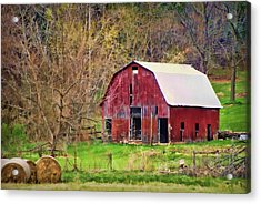 Jemerson Creek Barn Acrylic Print by Cricket Hackmann