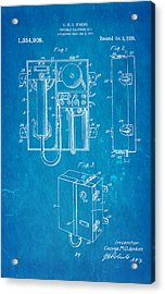 Jenkins Portable Telephone Patent Art 1920 Blueprint Acrylic Print by Ian Monk