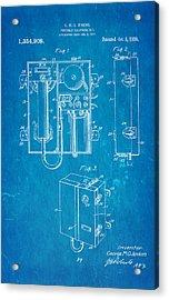 Jenkins Portable Telephone Patent Art 1920 Blueprint Acrylic Print