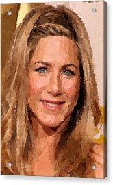 Jennifer Aniston Portrait Acrylic Print