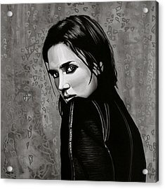 Jennifer Connelly Painting Acrylic Print by Paul Meijering