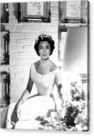 Jennifer Jones, At Home, Ca. Late 1950s Acrylic Print by Everett