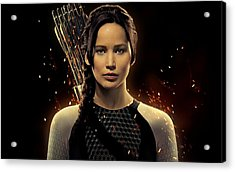 Jennifer Lawrence As Katniss Everdeen Acrylic Print