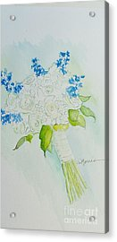 Jennifer's Wedding Bouquet Acrylic Print