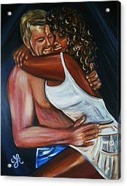 Jenny And Rene - Interracial Lovers Series Acrylic Print
