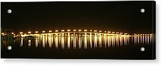 Acrylic Print featuring the photograph Jensen Causeway At Night by Lynda Dawson-Youngclaus