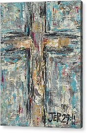Jeremiah Cross Acrylic Print by Kirsten Reed
