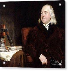 Jeremy Bentham Acrylic Print
