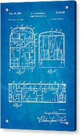 Jergenson Domed Observation Car Patent Art 1950 Blueprint Acrylic Print by Ian Monk