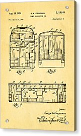 Jergenson Domed Observation Car Patent Art 1950 Acrylic Print by Ian Monk
